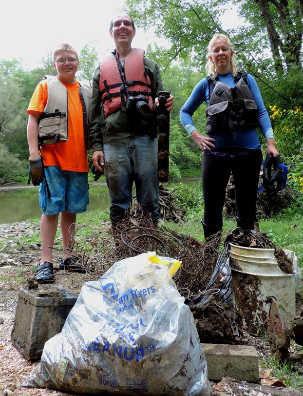 Sue (right) at This Year's Conewango Cleanup